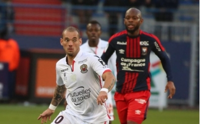 Sneijder'li Nice 90+3'te yıkıldı