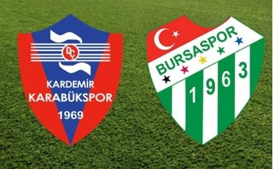 Karabükspor Bursaspor maçı canlı hangi kanalda saat kaçta?