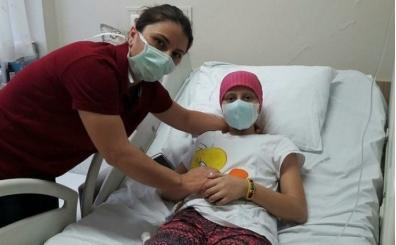 Lösemi hastası Cansu'nun Galatasaray hayali