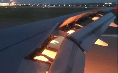 Rusya'da çok korkutan anlar! Suudi Arabistan'ın uçağı havada alev aldı