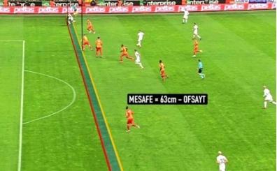 Pieroya göre Galatasaray'ın ilk golü 63 cm ofsayt